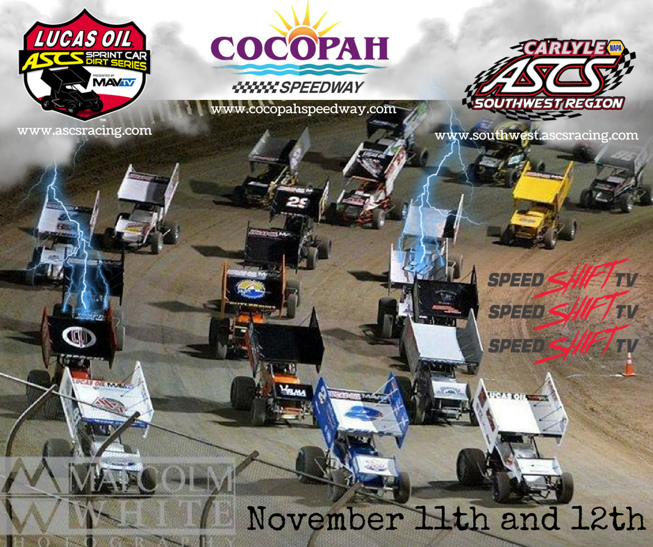 Lucas Oil ASCS To End Out 2016 Season At Arizona's Cocopah Speedway