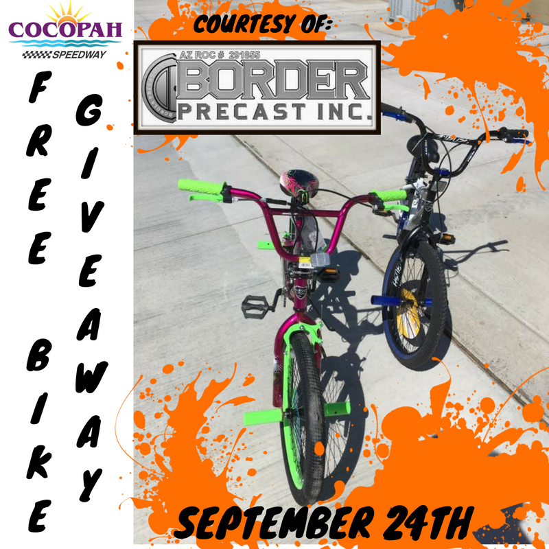 Free Bike Giveaway Saturday Night