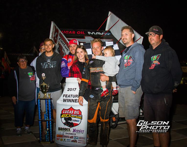 Seth Bergman Triumphant In Lucas Oil ASCS Finale At Cocopah Speedway
