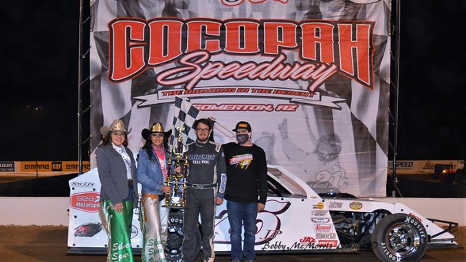 Baca reigns at IMCA.TV Winter Nationals presented by Yuma Insurance, night six wins to Ryland, Johnson,  and Olson