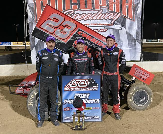 Bergman Bags ASCS Southwest Victory At Cocopah Speedway