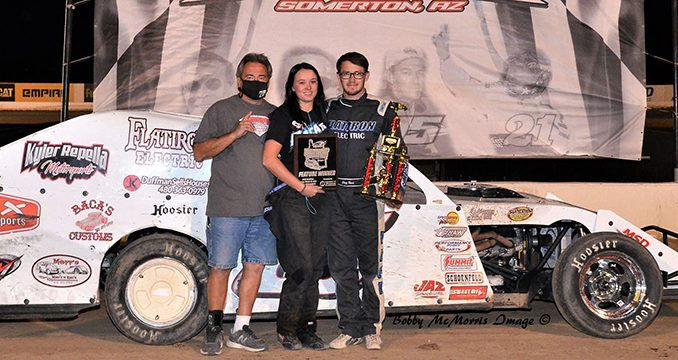 First Arizona shows for Wild West Tour see Baca, Hibdon top IMCA Modifieds at Cocopah